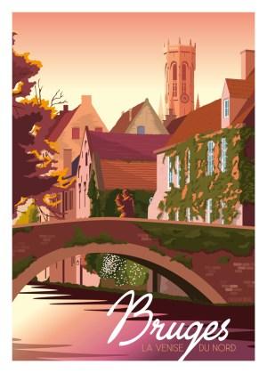 Affiche - Bruges, La Venise du Nord