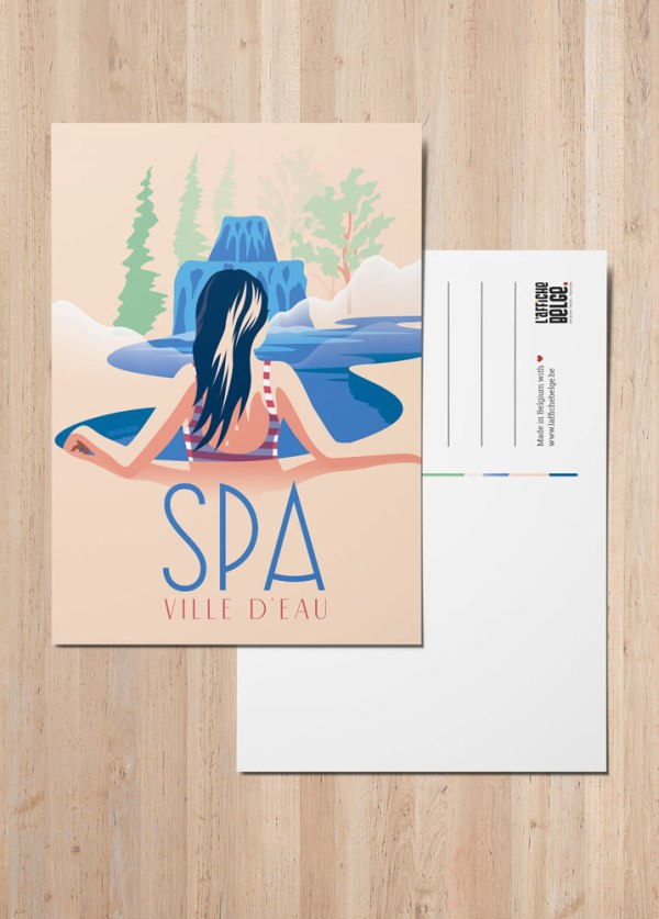 """Carte Postale """"Spa, ville d'eau"""""""
