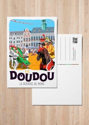 Carte postale Le Doudou, La ducasse de mons