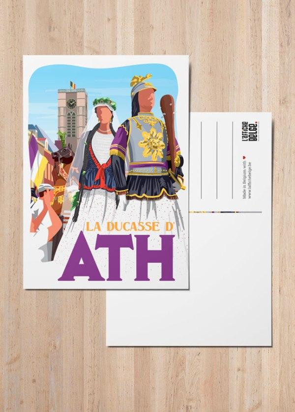 "Carte Postale ""La Ducasse d'Ath"""