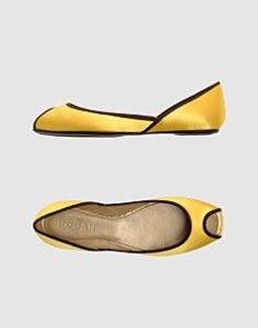 Chaussures de mariee ballerines jaunes