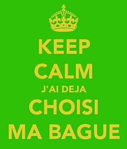 Keep calm bague