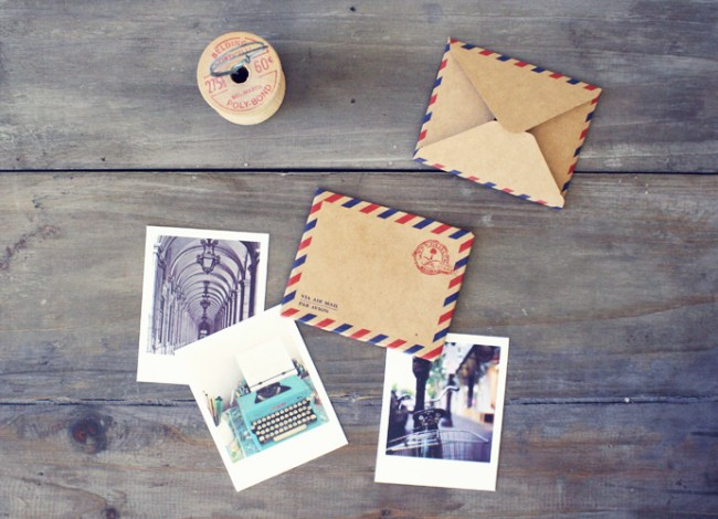 enveloppes air mail et cartes - Oh hello friend - LaFianceeduPanda.com