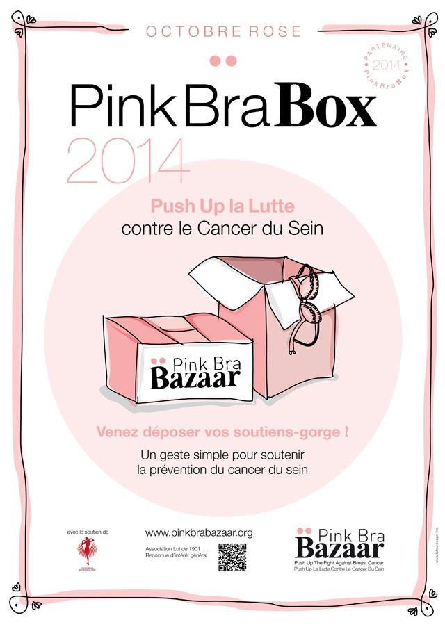 Pink Bra Bazaar octobre rose - Maison Lejaby et La Fiancee du Panda