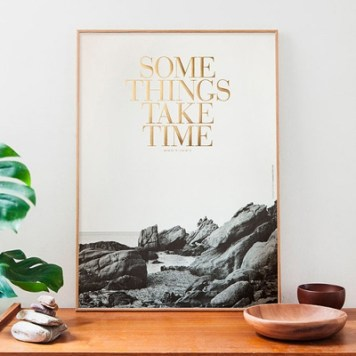 Affiche Some things take time Congostudio l La Fiancee du Panda blog mariage