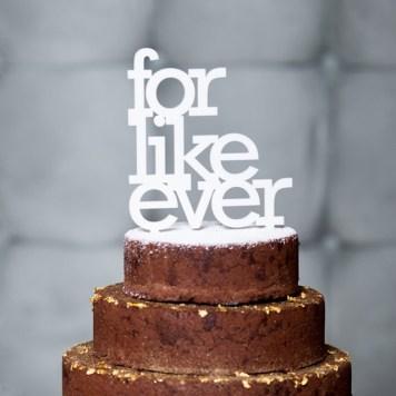 """Cake topper """"For like ever"""" - 23,06 euros"""