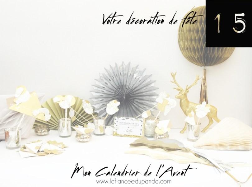 Box deco de fete blanc et or - Modern Confetti et Made-moiselles - Calendrier de l'Avent blogueuse - La Fiancee du Panda blog mariage