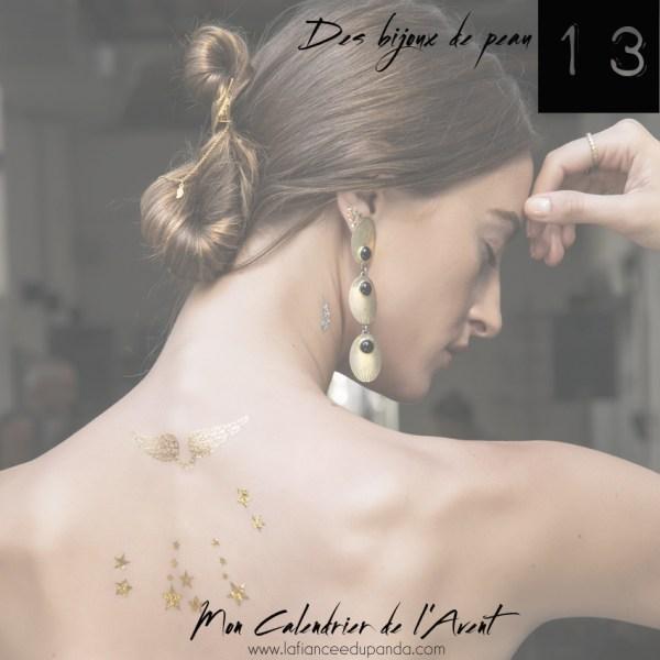 Skinart jewelry golden tattoo tatouage dore bijou de peau - calendrier de l'Avent blogueuse - La Fiancee du Panda blog mariage 2