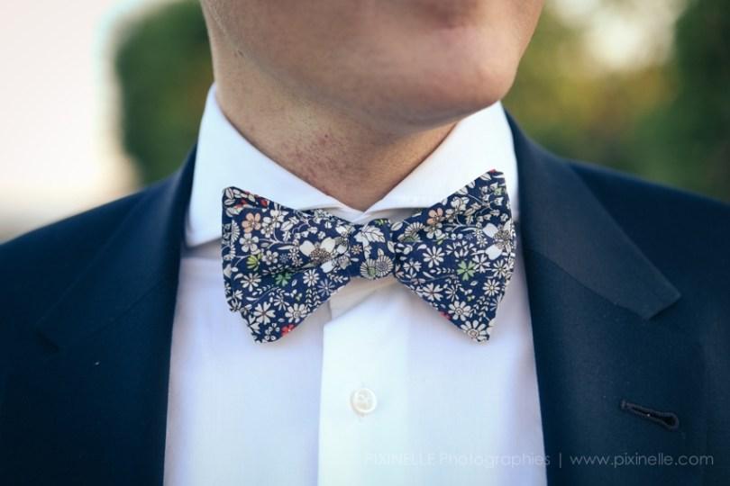 Noeud papillon Liberty mariage - photo Pixinelle - La Fiancee du Panda blog mariage