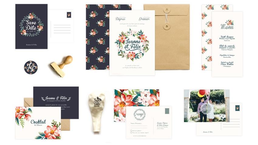 Faire-part mariage fleurs vintage retro Monkey Choo l La Fiancee du Panda blog mariage