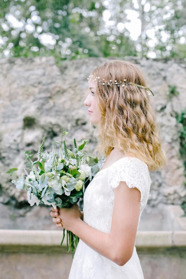 Headband mariee English Garden l La Fiancee du Panda blog mariage