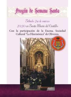 filarmonica cartel pregón semana santa olivenza 2018