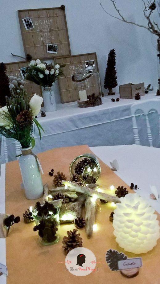 Decorations De Mariage Avec Pommes De Pin Elegant Mariage