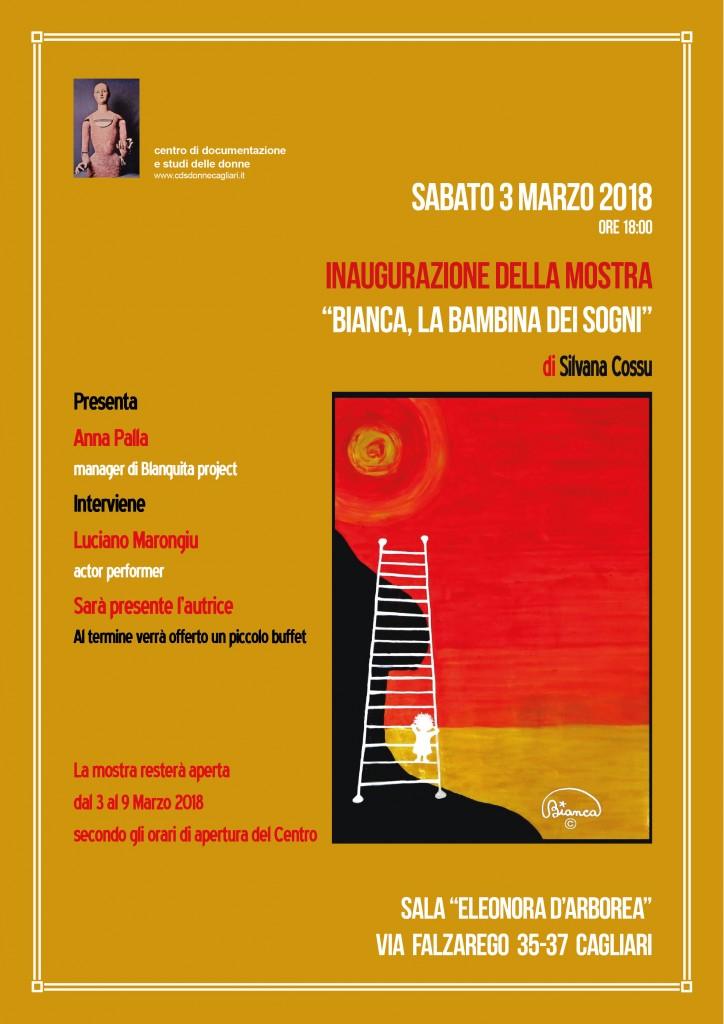 Mostra di Bianca al Centro di Documentazione e studi delle Donne a Cagliari – sabato 3 marzo