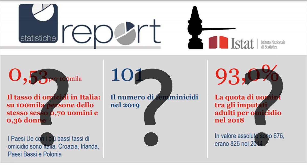 ISTAT e omicidi in Italia: la manipolazione istituzionale dei dati