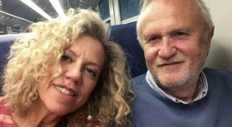 Monica Cirinnà con il marito Esterino Montino