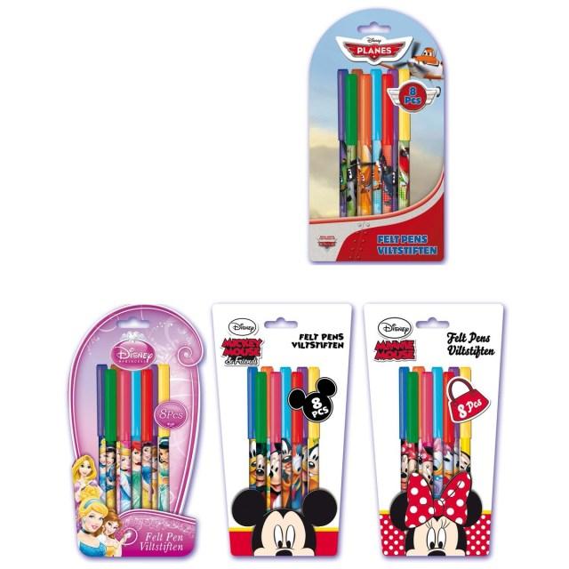 Feutres x15 Disney - Différents modèles - Collages et Coloriages