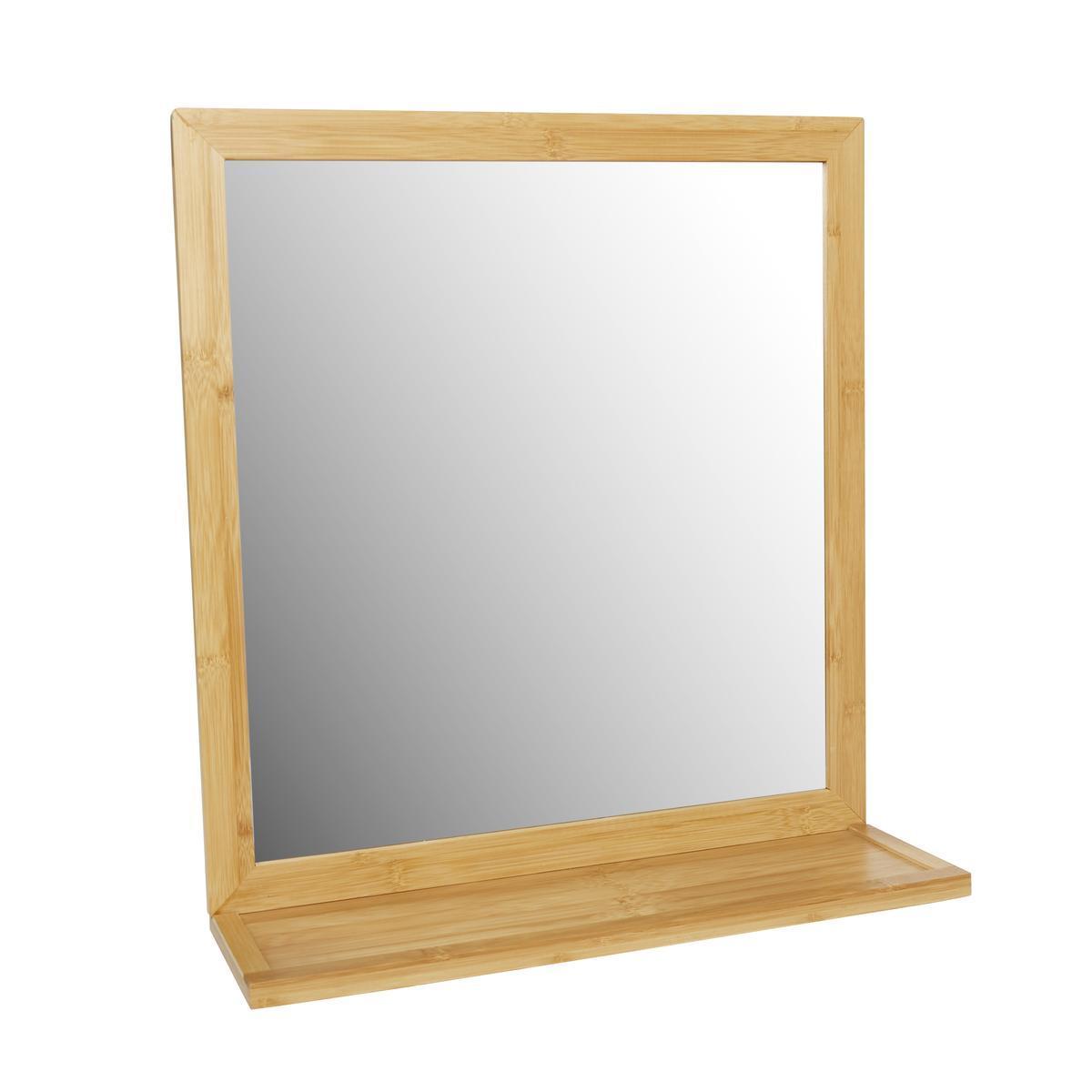 miroir tablette en bambou transparent