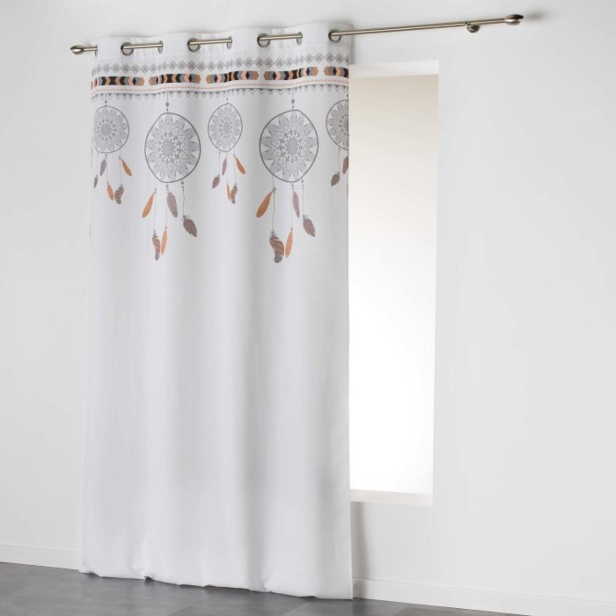 voilage indila 140 x 260 cm blanc