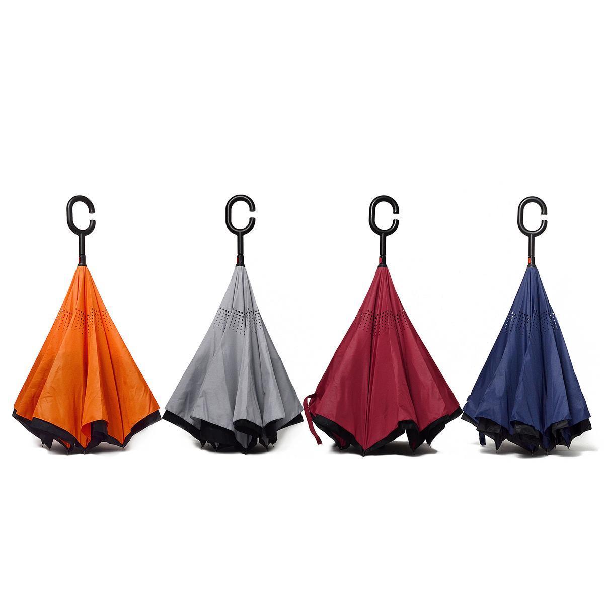 Parapluie Inverse Canne Couleurs Unies Accessoires Mode La Foir Fouille