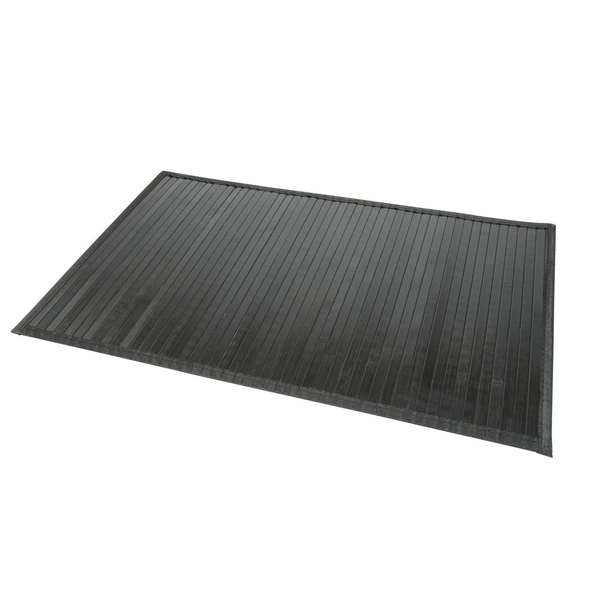 tapis de bain en bambou dessous anti