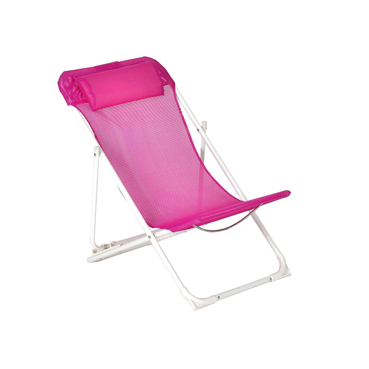 chaise longue enfant acier