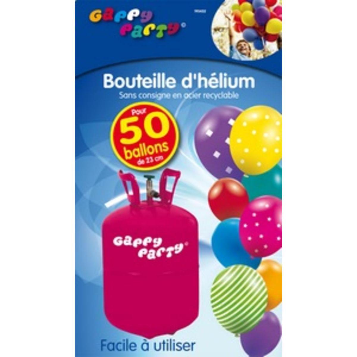 Bonbonne Helium 13 4l Pour 50 Ballons Gappy Party Vaisselle Jetable La Foir Fouille