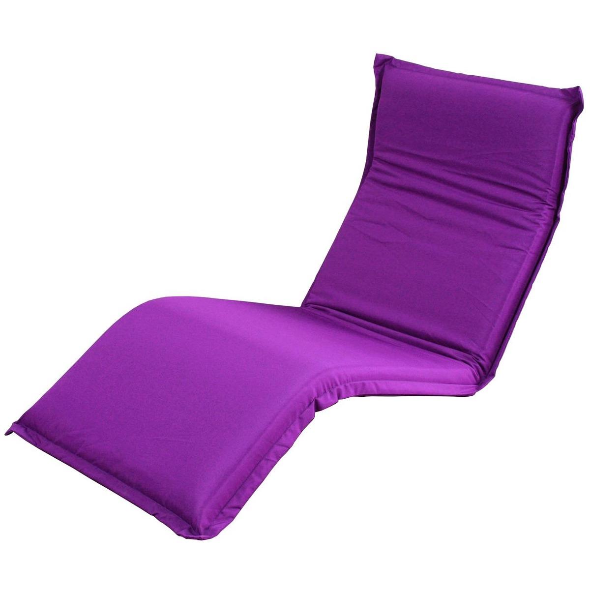 Chauffeuse 5 Positions 187 X 70 X 10 Cm Violet Canapes Et Fauteuils La Foir Fouille