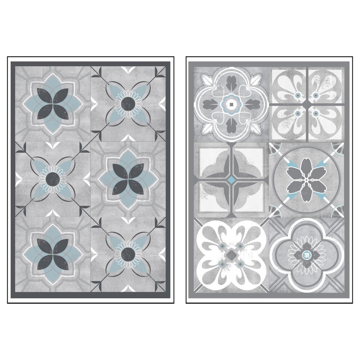 6 stickers carreaux de ciment 30