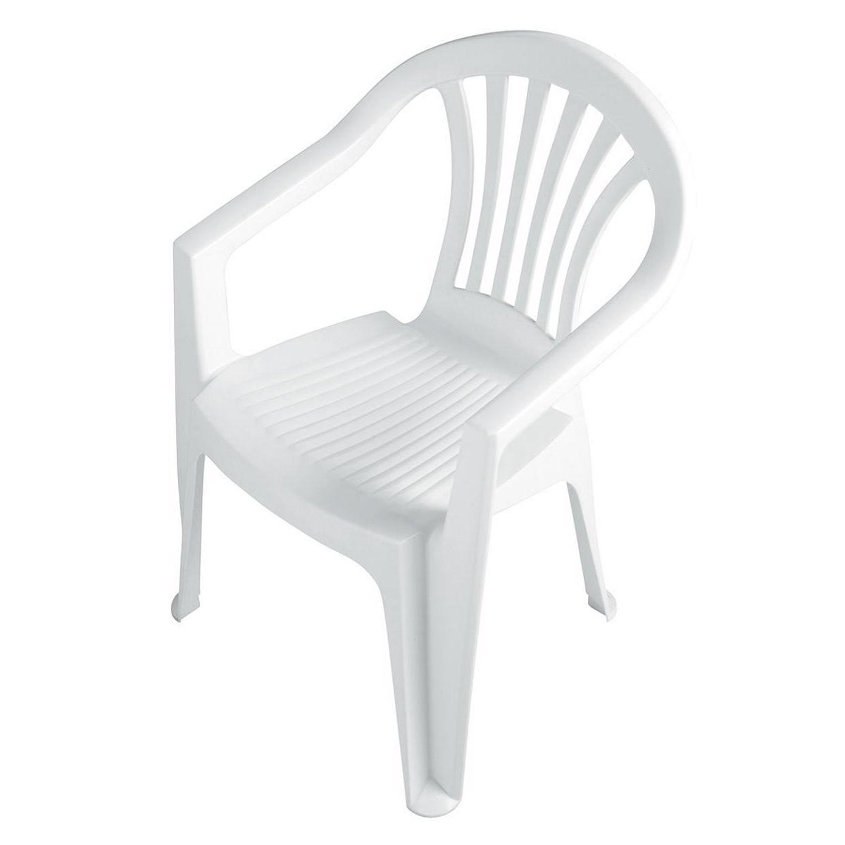 fauteuil monobloc blanc mobilier de