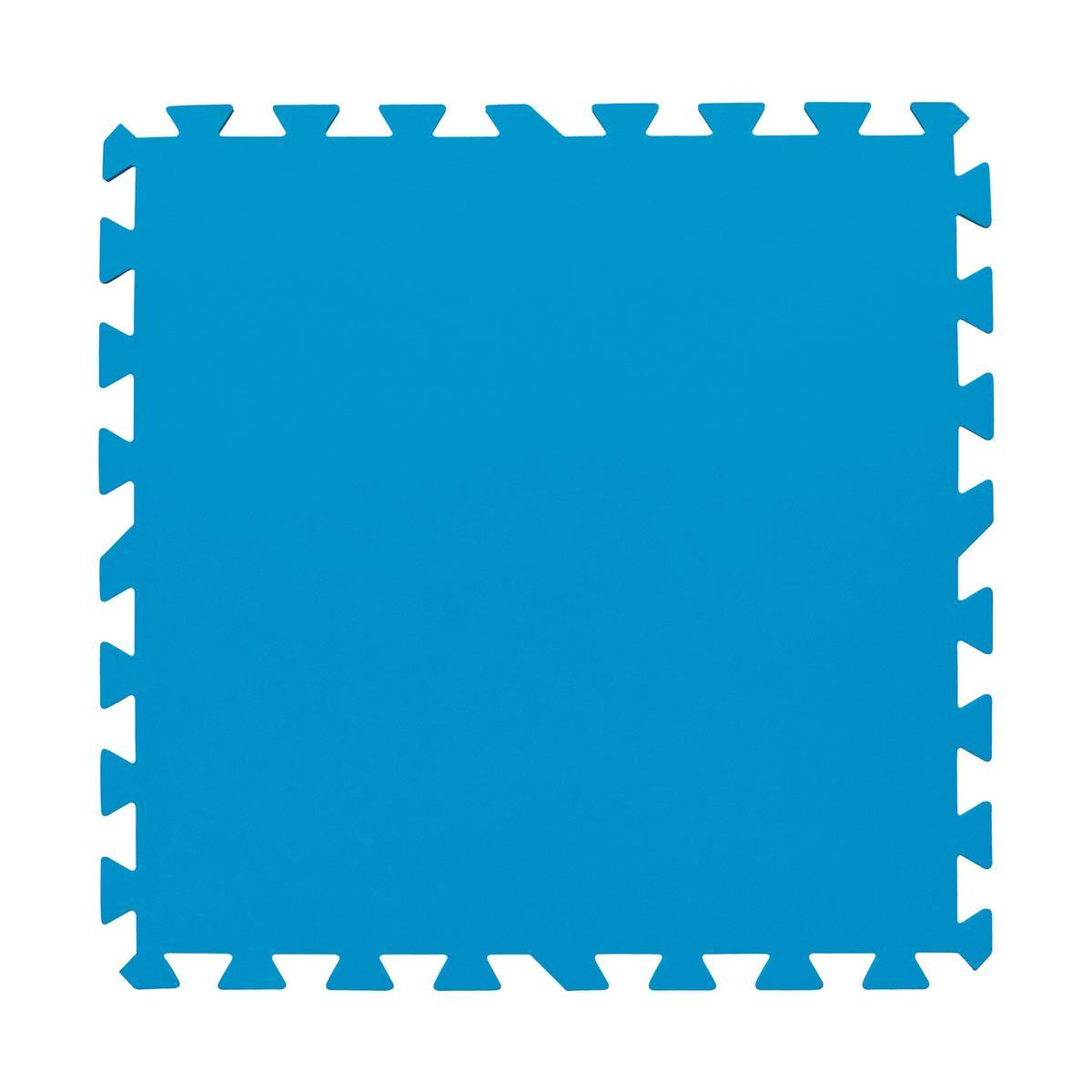 tapis de sol bleu entretien de