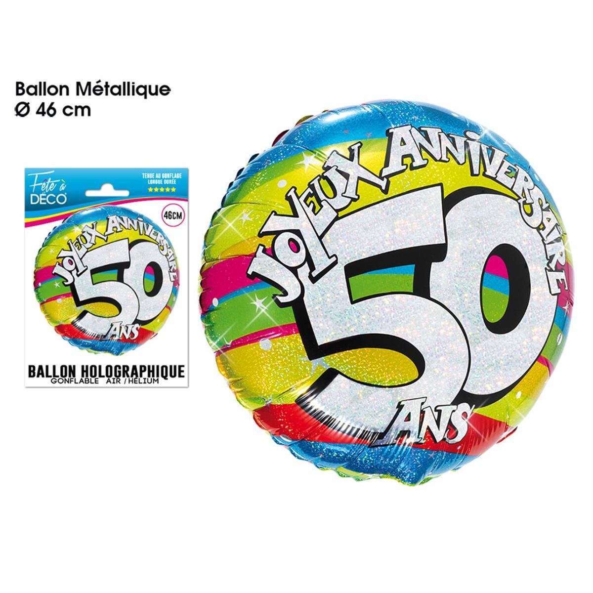 Ballon Helium 50 Ans Anniversaire La Foir Fouille