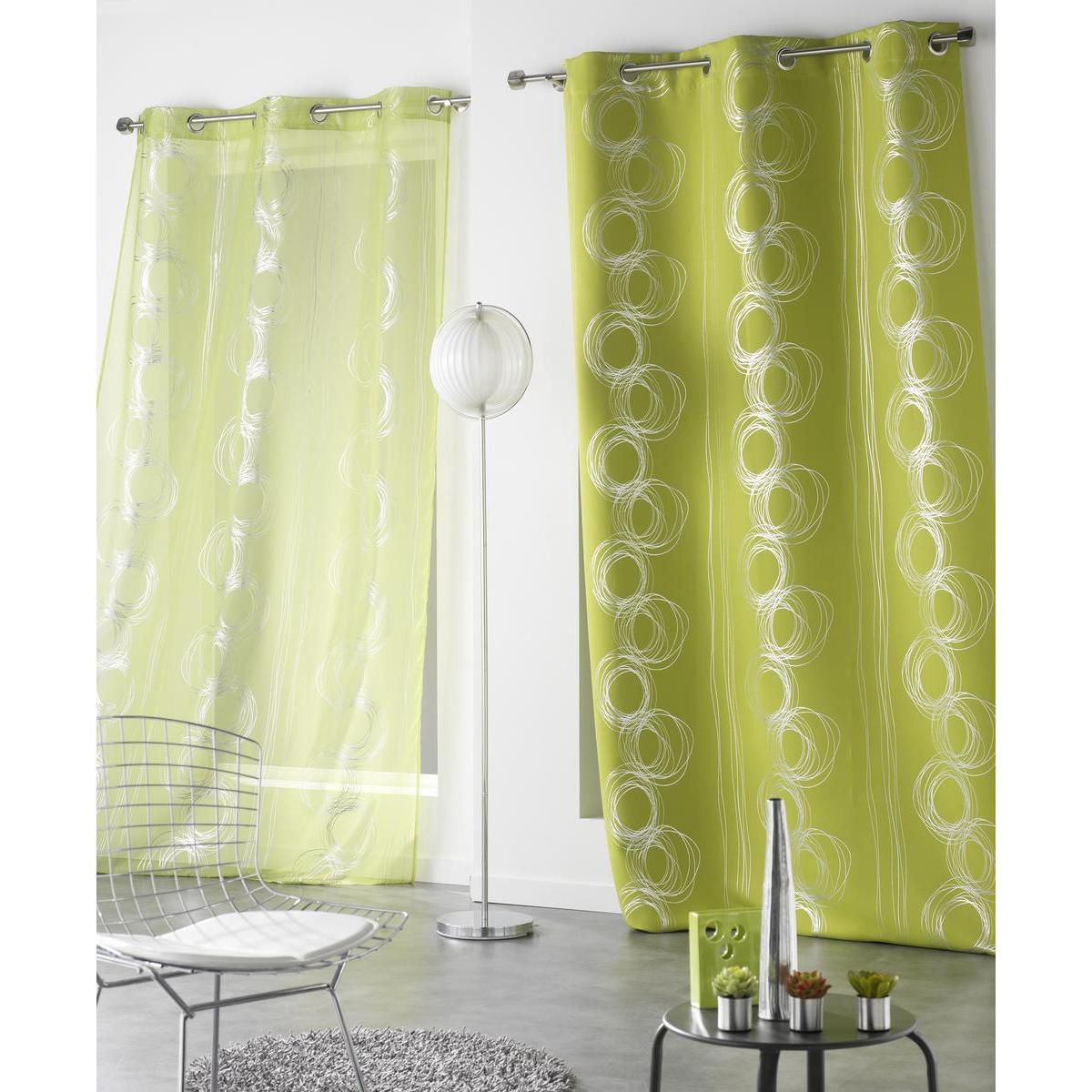 rideau occultant vert rideaux et