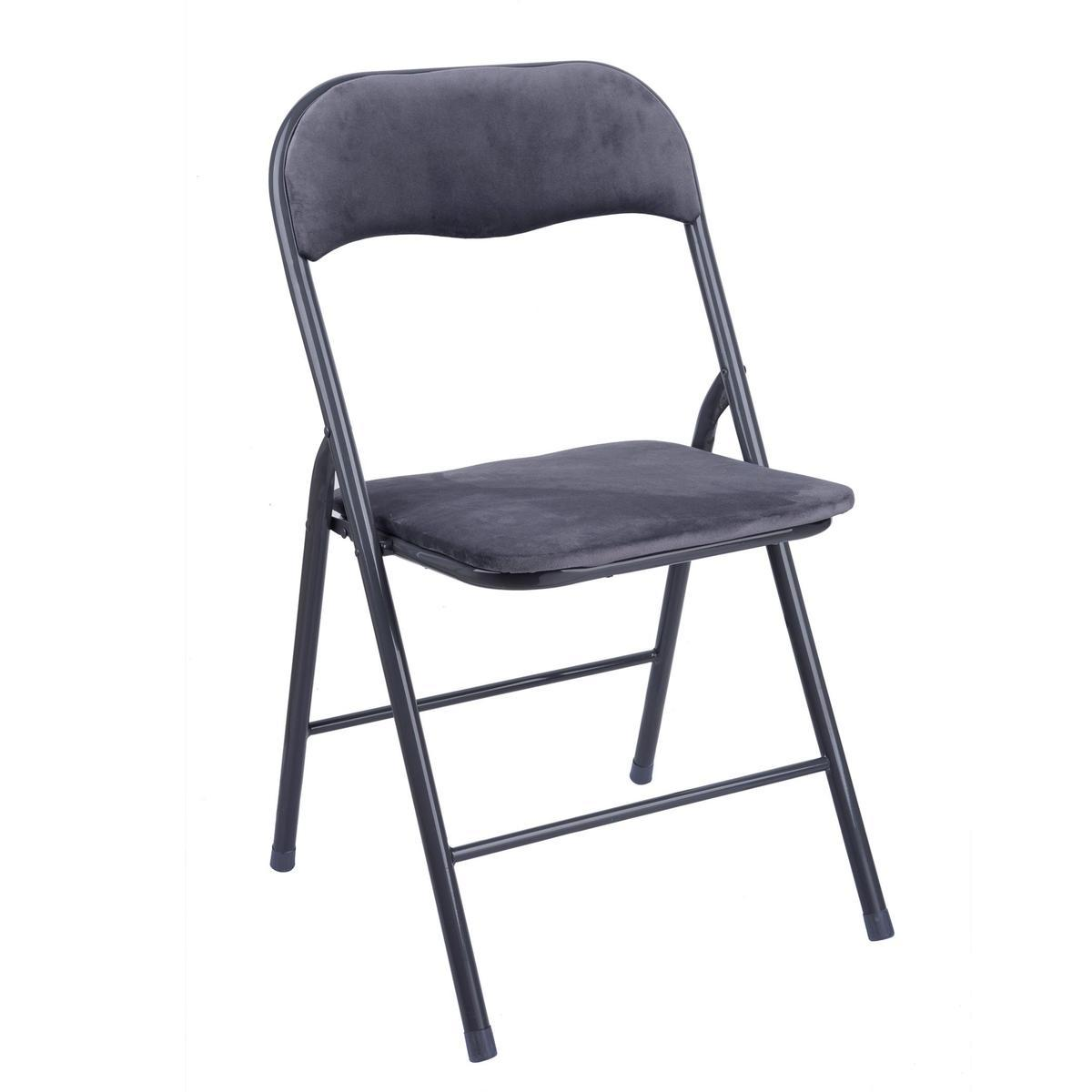 chaise pliante gris meubles pour la