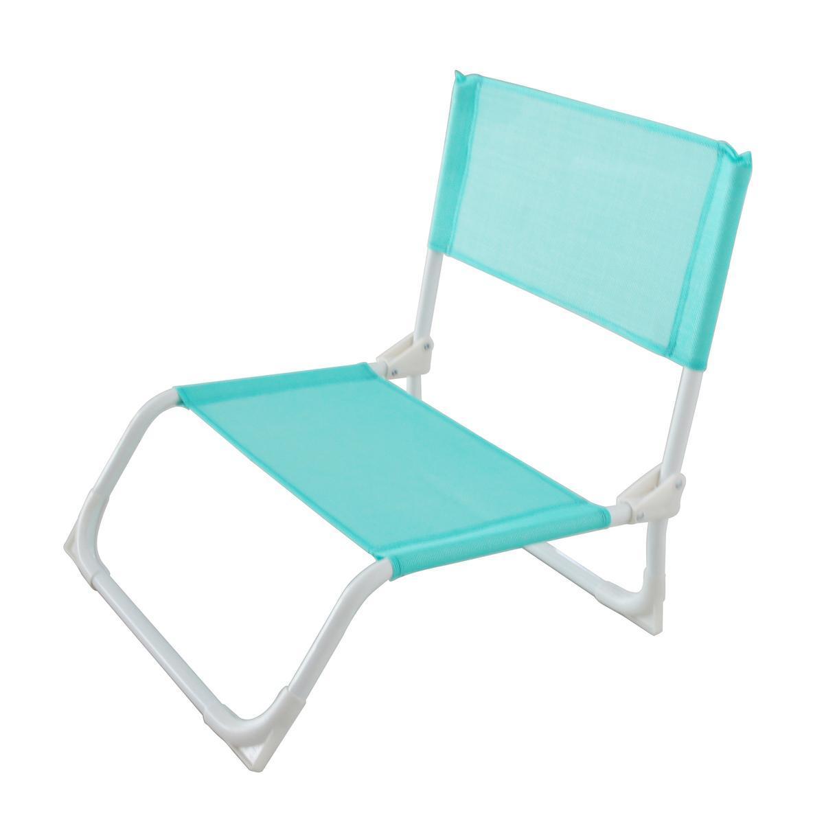 chaise de plage bleu plein air la