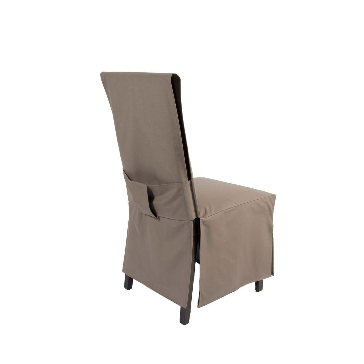 housse de chaise dos droit polyester