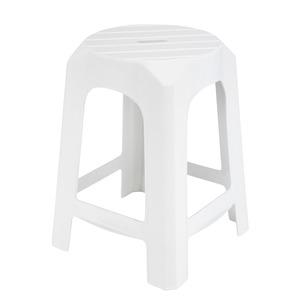 plastique 35 x 35 x h 46 cm blanc