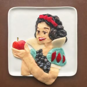 Harley Food Art Snow White