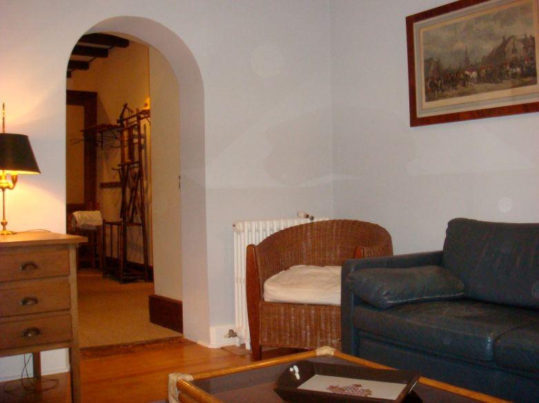 Le salon télé du château de La Fouquerie