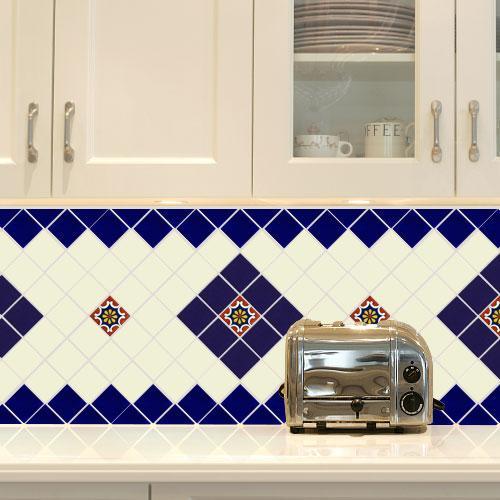 cream white talavera tiles white
