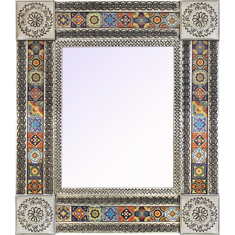 mexican tiled mirror decorative tiled