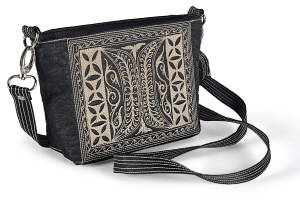 Paspor Small handmade cross body in BlackBrown