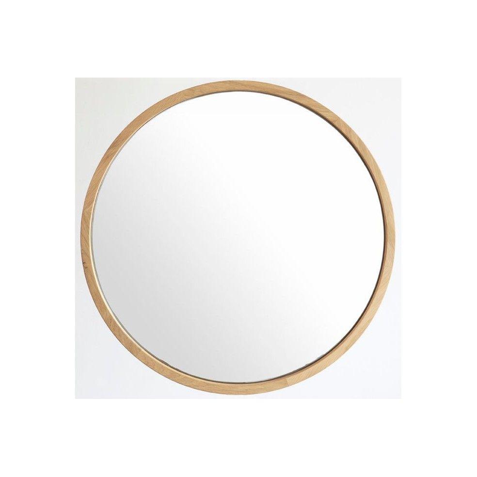 miroir rond en chene massif grandes