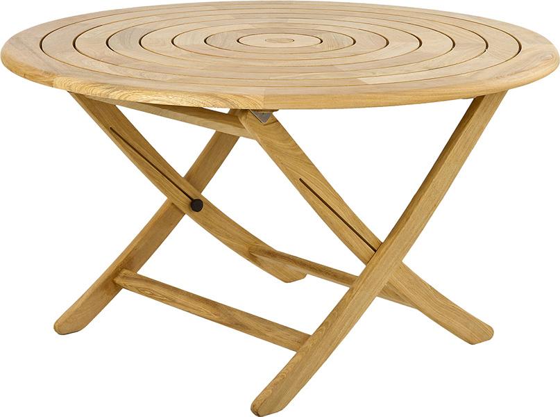 table de jardin pliante et ronde 130 cm en bois massif haut de gamme