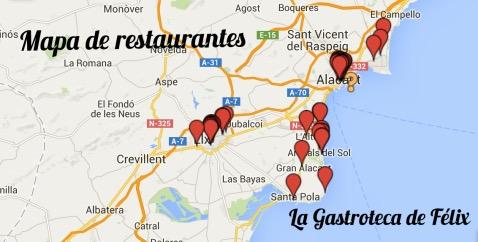Mapa de restaurantes