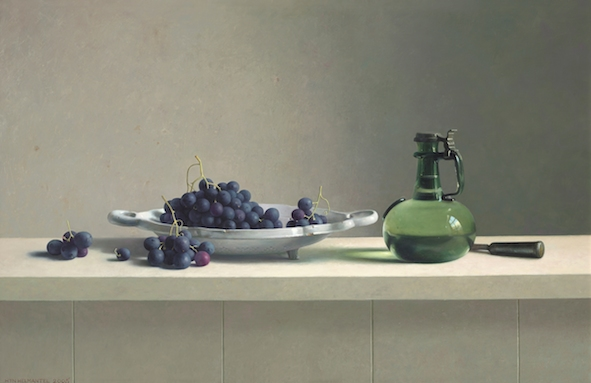 Henk-Helmantel-Still-Life-with-grapes-2005-oil-on-panel-80-x-122-cm