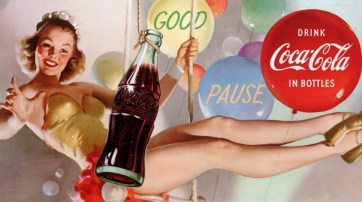 Illustration Gil Elvgren pour Coca Cola