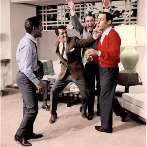 "The Rat Pack lors du ""Dean martin show"""