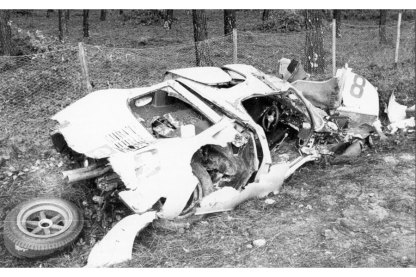 Ford GT 40 accidenté de Willy Mairesse
