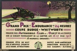 Affiche de la 1ère édition des 24h du Mans en 1923